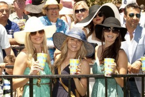 Hats at the Del mar Races