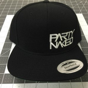 Party Naked Black Snapback Hat