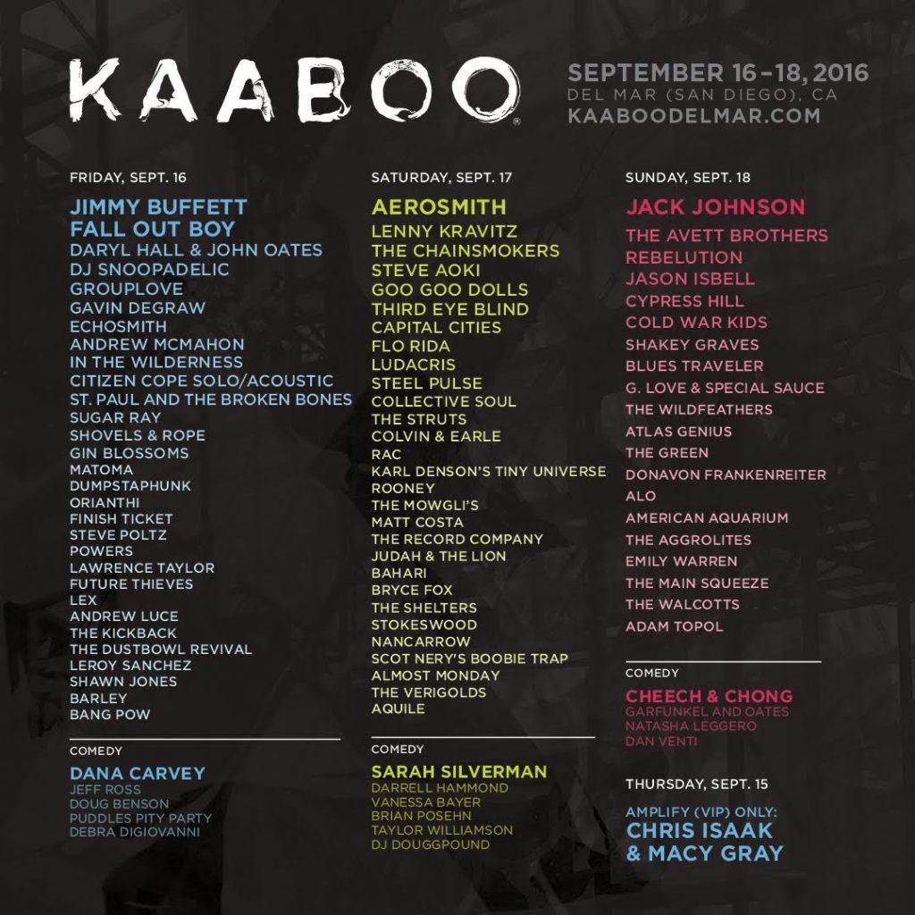 KAABOO Lineup
