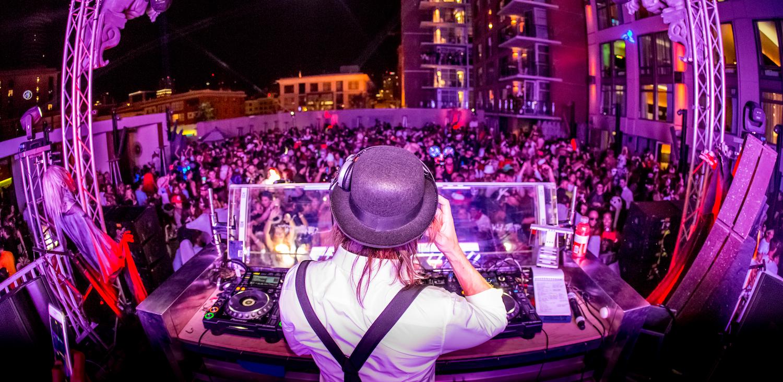 san diego rooftop halloween party - Purple Hotel 2016