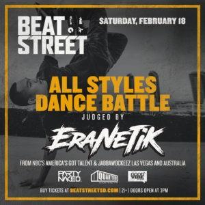 Former Jabbawockeez performer EraNetik judging at Beat Street!