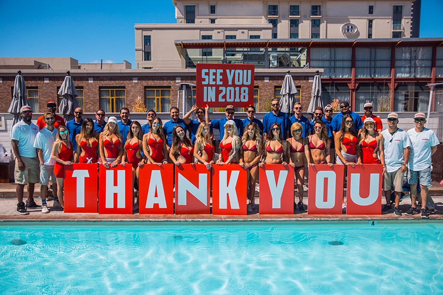 Sunburn Pool Lounge Lifeguards and Staff Saying Thank You