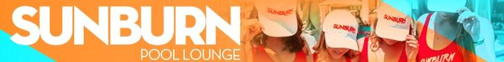 Sunburn Pool Lounge Promo Pool Banner