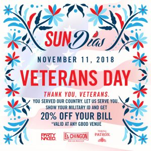 Veterans Day Special at El Chingon San Diego